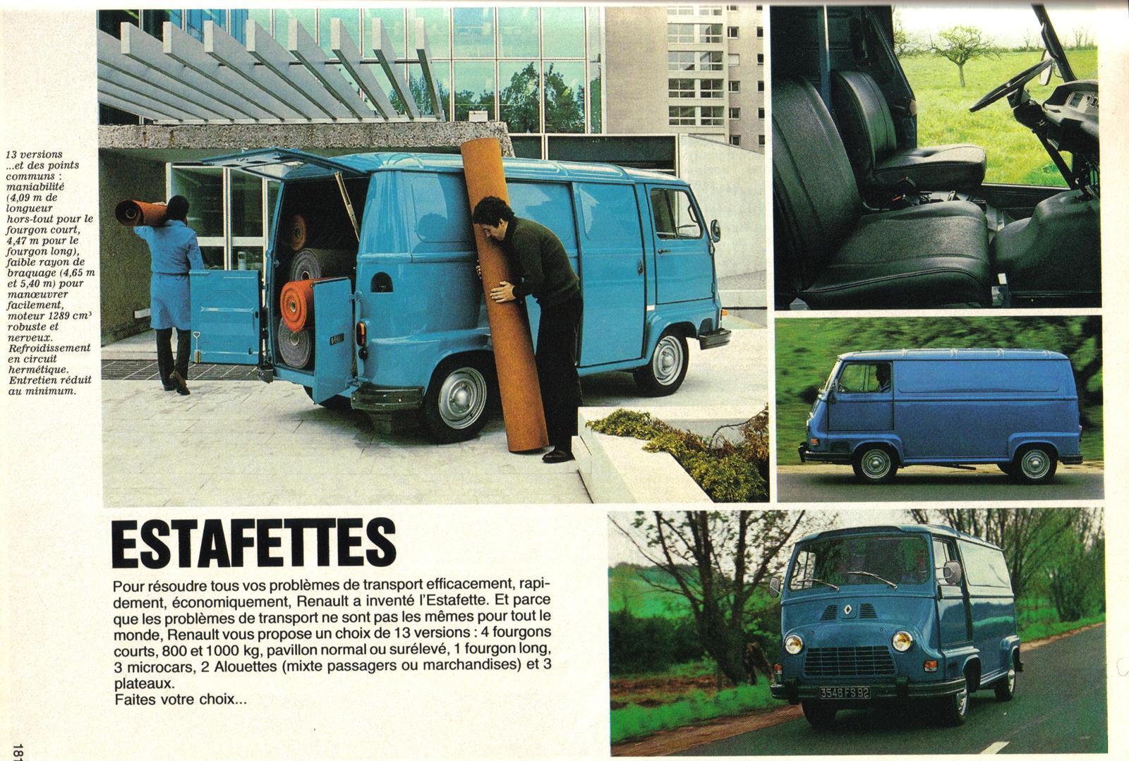 catalogue catalogue renault estafette estafette renault. Black Bedroom Furniture Sets. Home Design Ideas