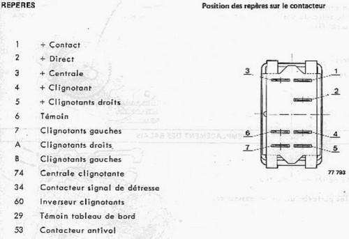 Schema centrale clignotant 3 broches